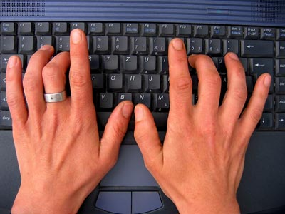 TYPING IN A